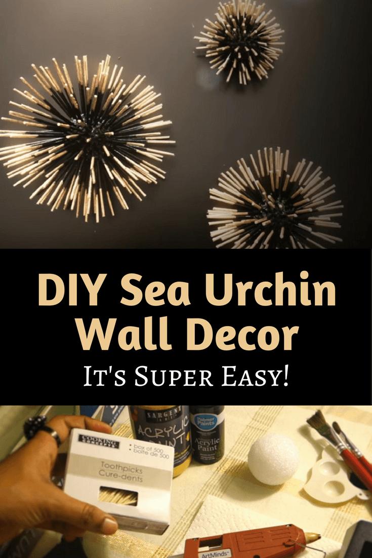 New DIY Sea Urchin Wall DecorIt's Super Easy! IJ91
